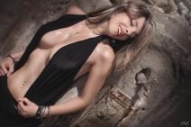 Laurent Kacey -black lingerie